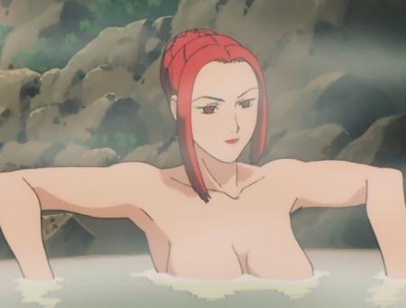 ターンエーガンダム23 テテス・ハレの胸裸温泉入浴シーン