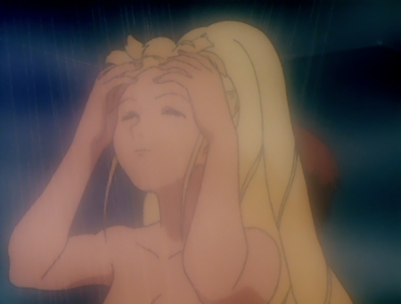 ターンエーガンダムTV版34 キエル・ハイムの胸裸シャワーシーン