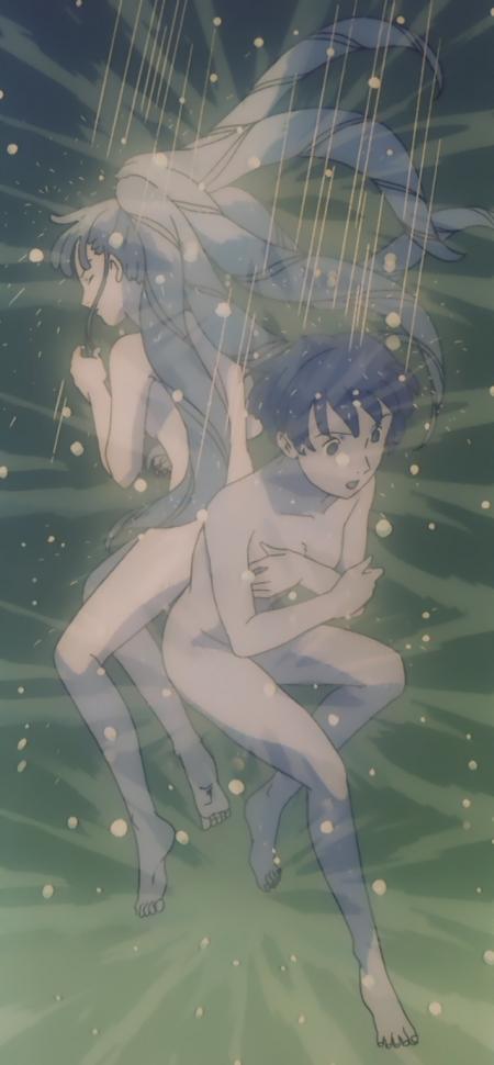 ターンエーガンダムTV版41 キエル・ハイムとソシエの全裸シャワーシーン溺れる