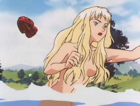 ターンエーガンダム6 キエル・ハイムの全裸水浴びシーン