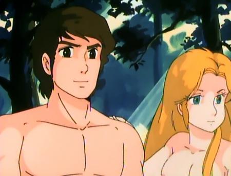 うる星やつらTV版104 イヴの胸裸乳首