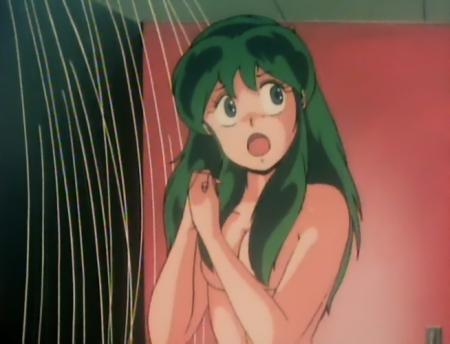 うる星やつらTV版127 ラムの胸裸シャワーシーン