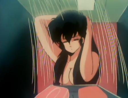 うる星やつらTV版129 サクラの胸裸シャワーシーン
