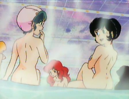 うる星やつらTV版23 ラムと弁天の全裸温泉入浴シーン