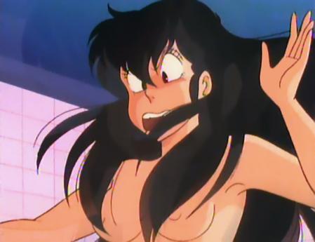 うる星やつらTV版41 サクラの胸裸入浴シーン