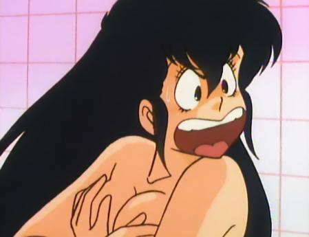うる星やつらTV版43 サクラの胸裸入浴シーン