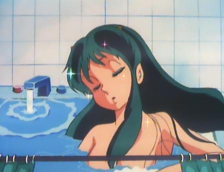 うる星やつらTV版52 ラムの胸裸入浴シーン