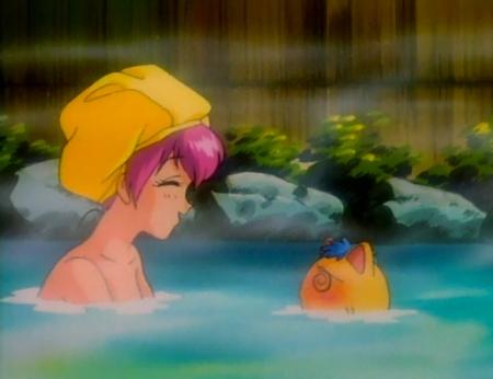 愛天使伝説ウェディングピーチ13 花咲ももこの胸裸温泉入浴シーン