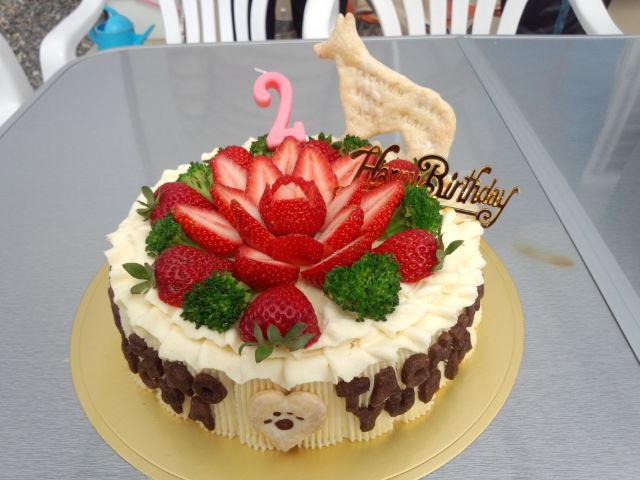 2歳の誕生日ケーキ