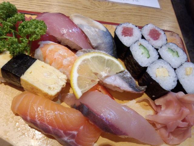 徳島の海の幸のお寿司