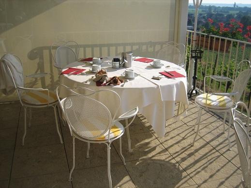 私達の朝食のテーブル