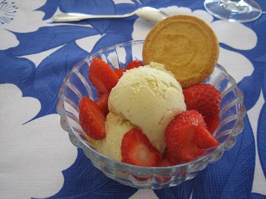 イチゴアイスクリーム