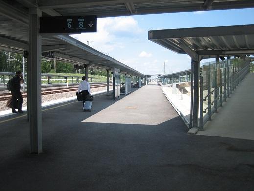 TGVのプラットホーム