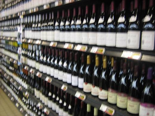 ズラリ並んだワイン