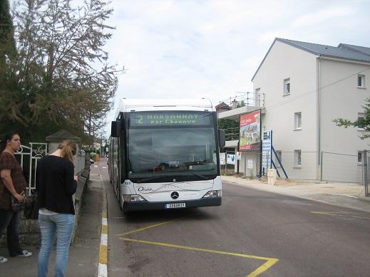 バスに乗ってディジョン中心部へ