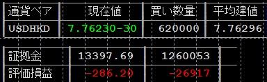 USDHKDドル香港ドルのレート含み損トラップリピートイフダン