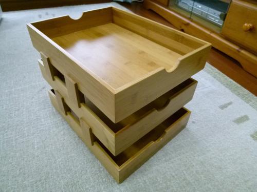 竹製のラック