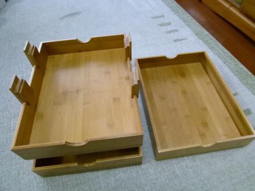 竹製ラック分解