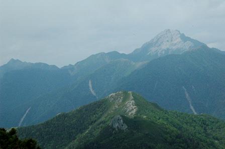02鋸岳と甲斐駒ケ岳