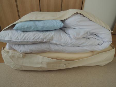 不織布を使用している収納ケースが多い中、珍しく帆布を採用していて丈夫そうだったのと、←押入れを秘密基地化している怪獣達がいるので(;´Д`A