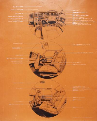 79年3月 クラウン 室内図解
