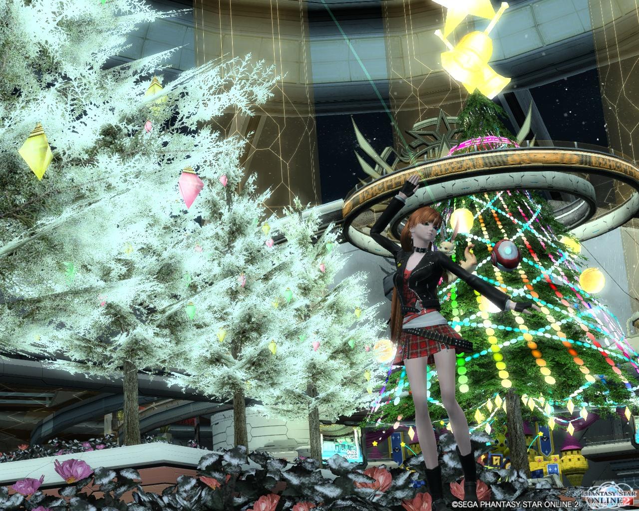 クリスマスロビーにて