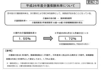 20140217平成26年度協会けんぽ保険料率の見込み