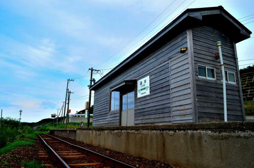 線路鯵ヶ沢方面