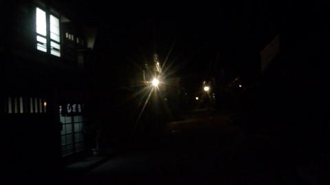 奈良井宿夜