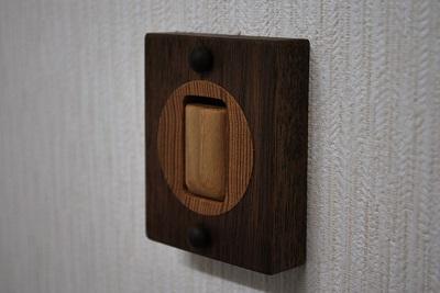 木製コートフック ウォールナット&タモ