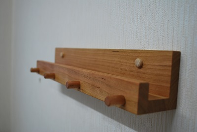 木製キーフック