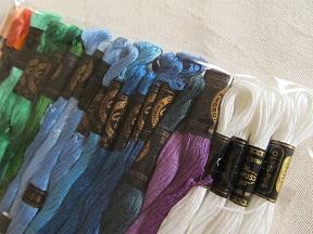 いただいた刺繍糸。