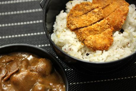 雑穀米カツカレー弁当