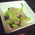 チンゲン菜の炒め物