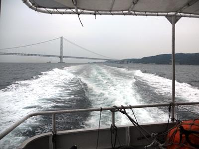 高速船後方