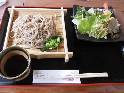 山菜天ぷらそば