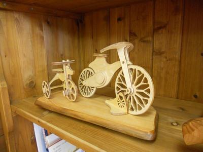 ピノキオ館の自転車模型