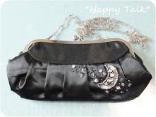 ビーズデコ刺繍のバッグ