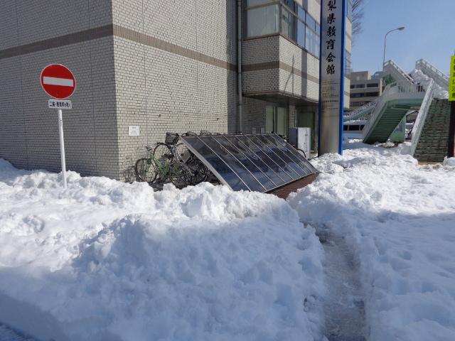 20140217駐輪場崩壊