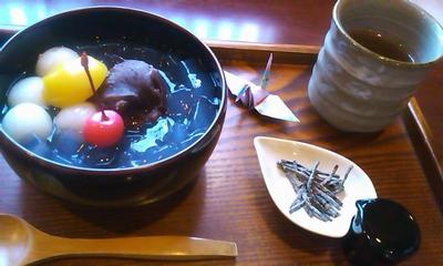 5甘味カフェ「茶ゆ」にてあんみつ