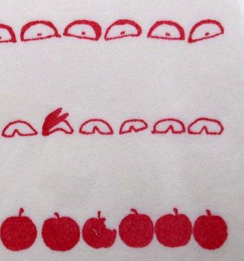 遊び箋ごちそうリンゴ2