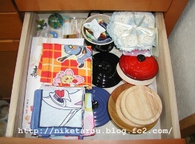 食器棚引き出し整理1