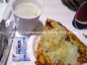 チーズピザ&クラムチャウダー2013年10月