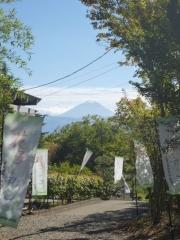 蔵座敷門前からの富士山