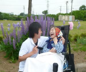 壽さん笑顔