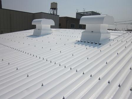 八尾市E工場遮熱塗料で施工