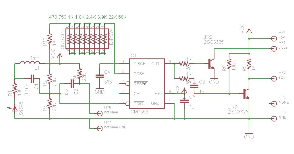 nissin Auto 3200 AF iGBT Control(ストロボ)のスレーブ化 その4(回路)
