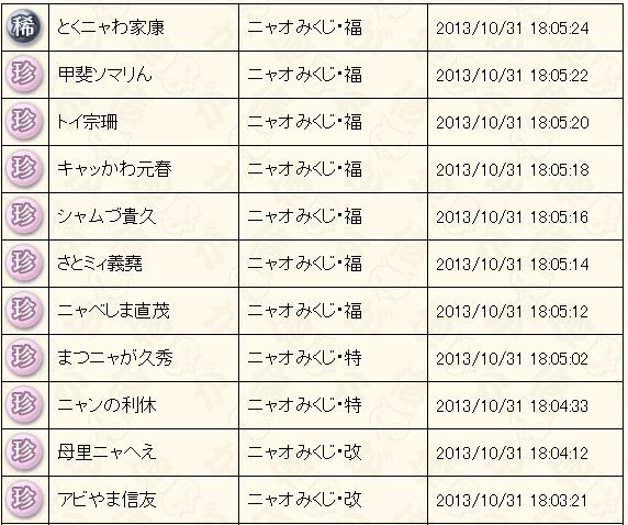 10月末くじ結果3
