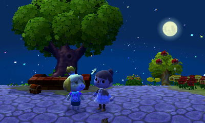 中秋の名月としずちゃんと一緒