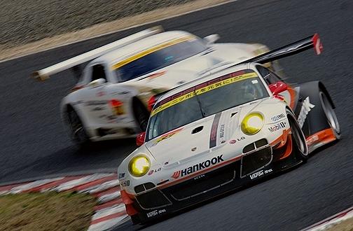 ハンコック ポルシェ PORSCHE 911 GT3 R 影山 正美・藤井 誠暢組